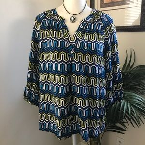 Crown & Ivy Boho Peasant Style Tunic Top